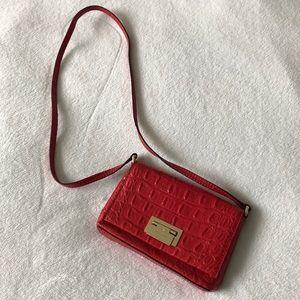 Kate Spade Red Crocodile Shoulder Bag